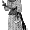 Victorian lady, black and white graphics, Edwardian ladies fashion, vintage opera fashion, antique dress illustration