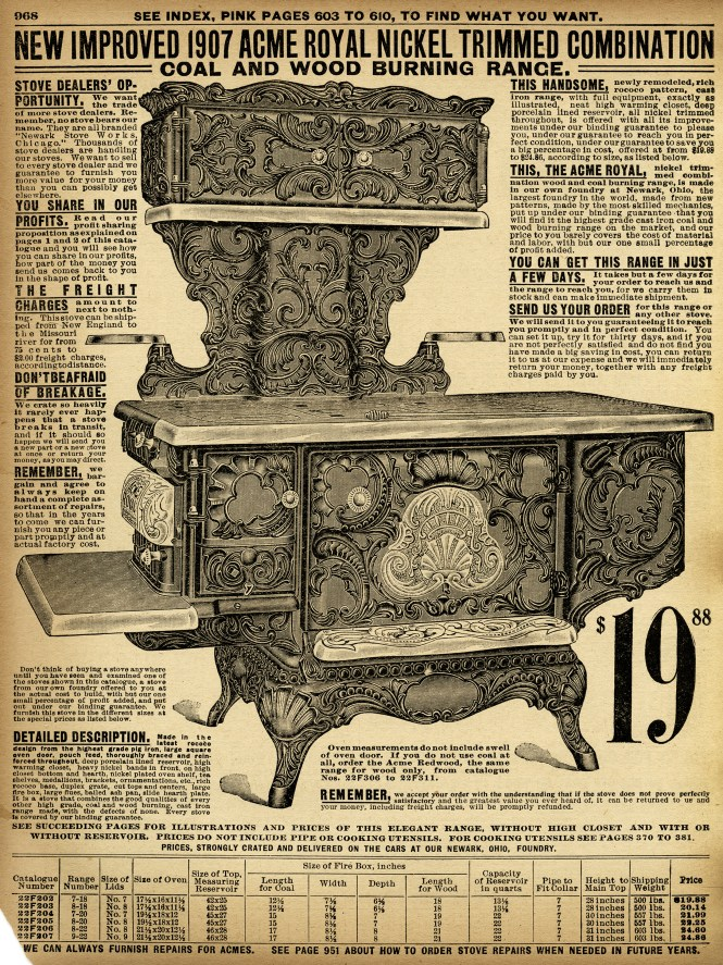 Sears And Roebuck Antique Wood Burning Stove Vintage Kitchen Classy