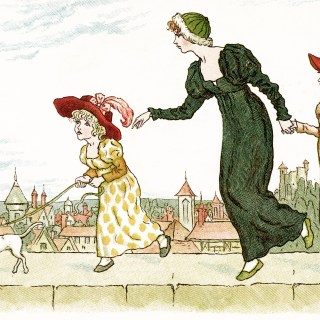 On The Wall Top 1 ~ Free Kate Greenaway Image