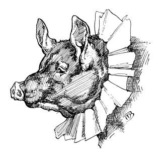 Whimsical Storybook Pig ~ Free Vintage Clip Art