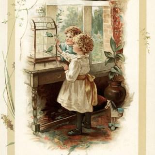 Love Birds ~ Free Vintage Storybook Illustration