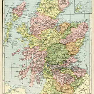 Map of Scotland ~ Free Vintage Image