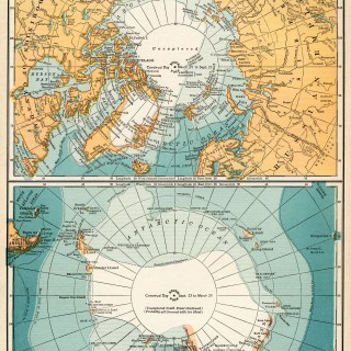 North and South Polar Regions ~ Free Vintage Image
