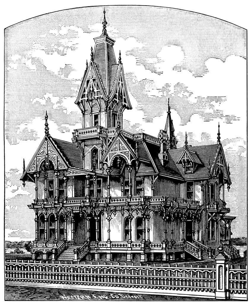 Elegant Victorian Villa Free Spooky House Clip Art Old