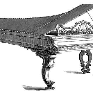 Victorian Piano Forte ~ Free Clip Art
