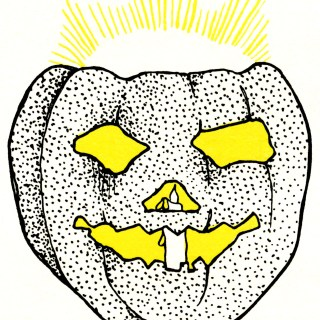 Spooky Glowing Pumpkin ~ Free Vintage Image