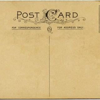 Shabby Postcard Backs ~ Free Vintage Graphics