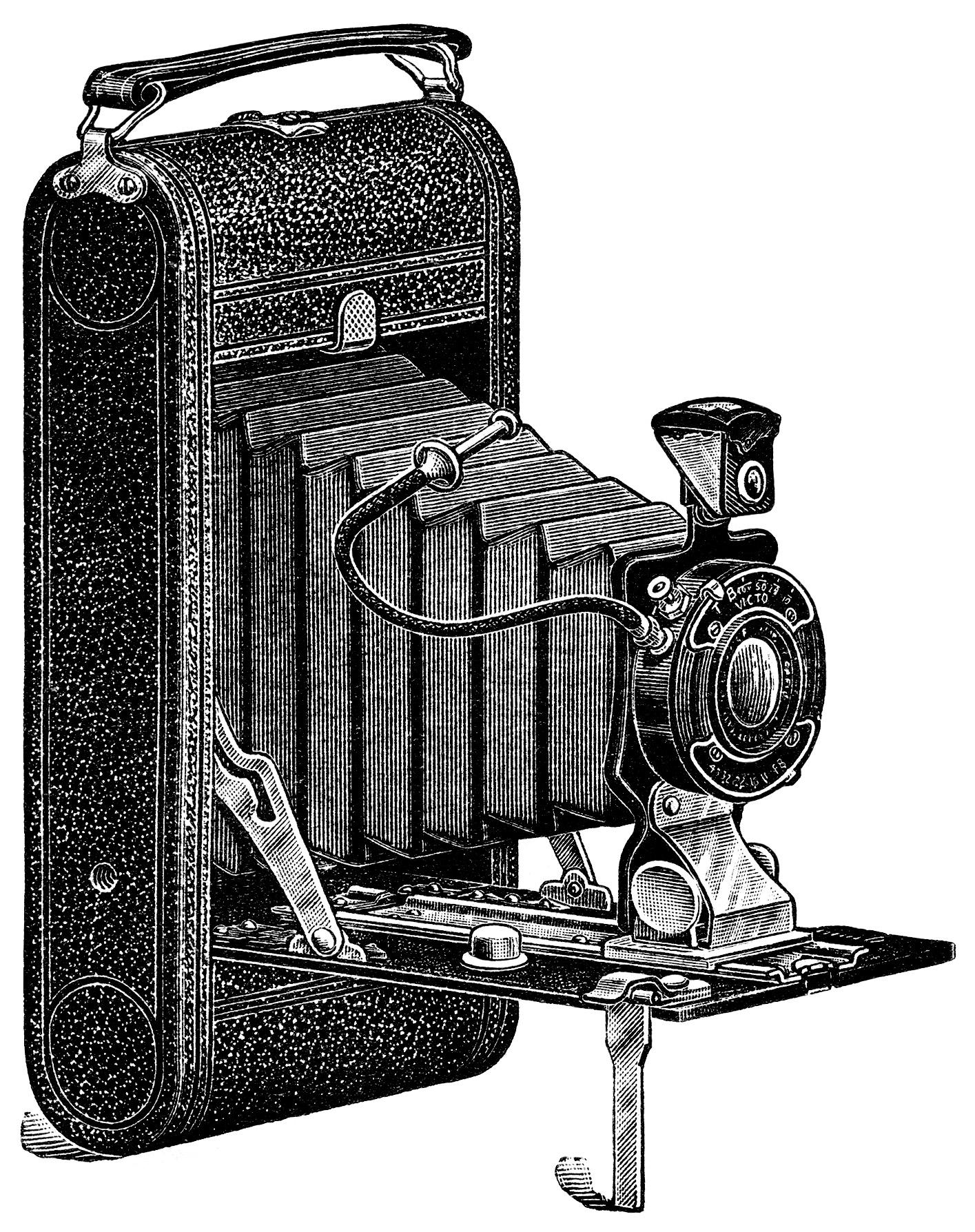 free camera clipart black and white - photo #35