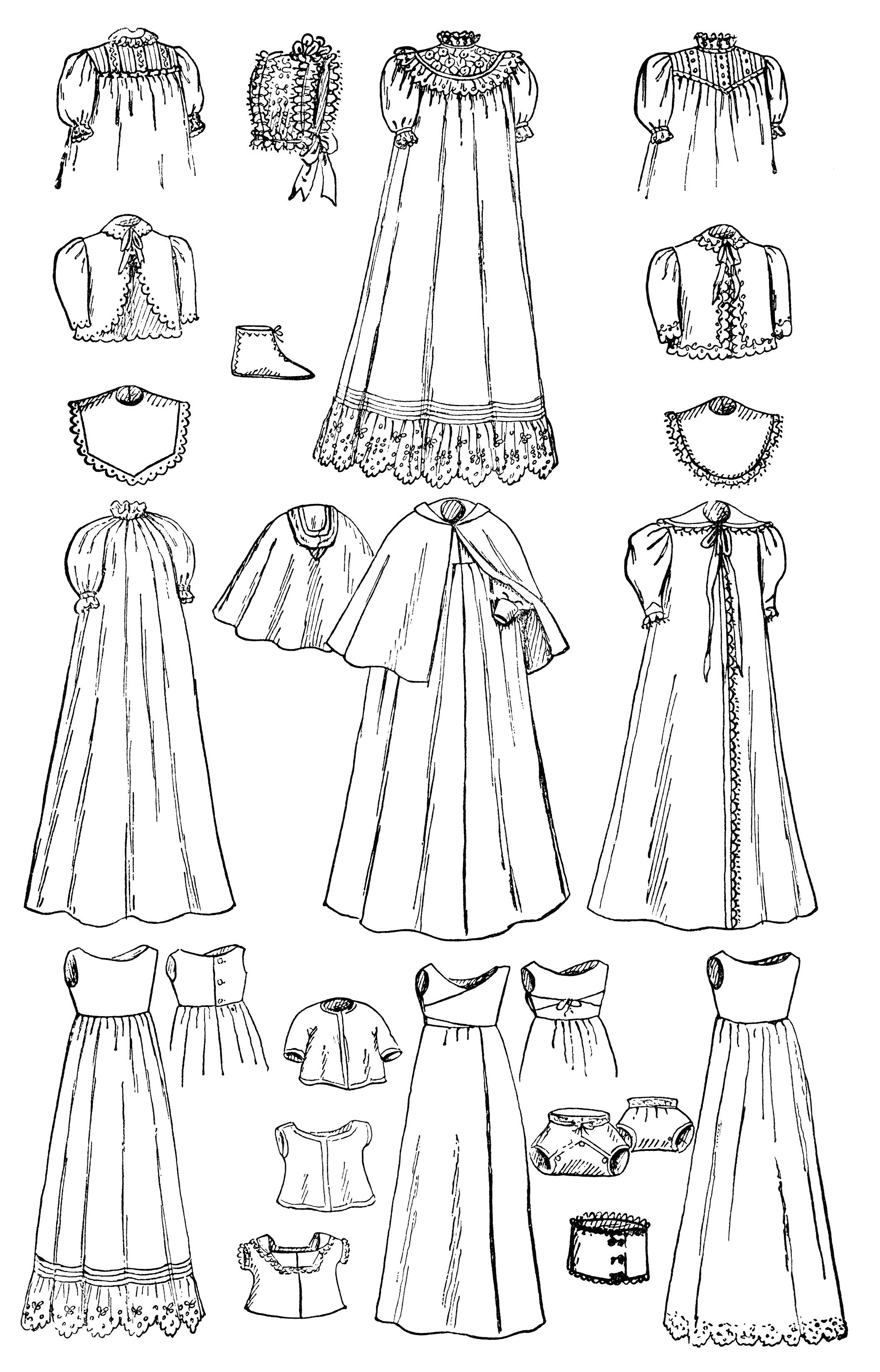 Infant S Wardrobe Free Vintage Clip Art