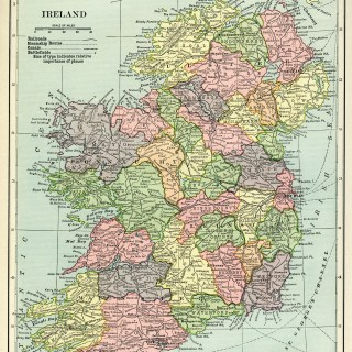 Map of Ireland ~ Free Vintage Image
