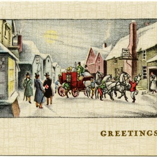 Victorian Town Scene ~ Free Christmas Graphics