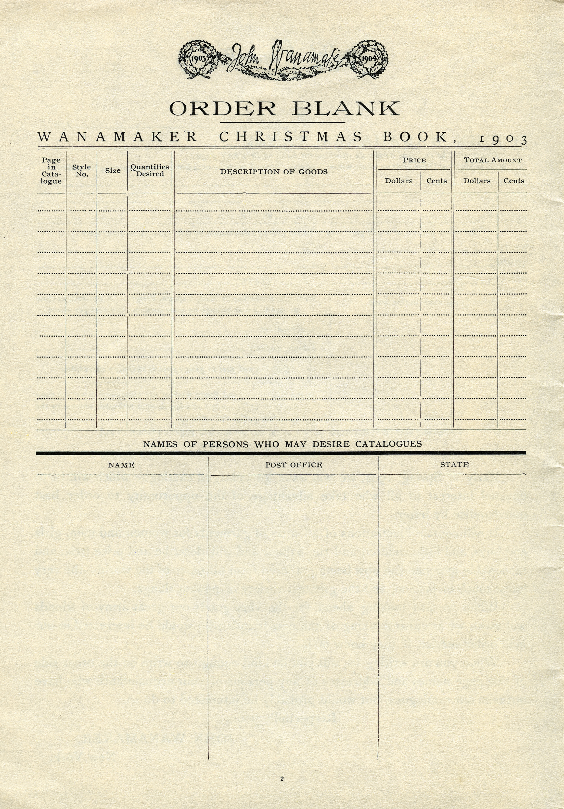 Christmas Order Form Free Vintage Graphics