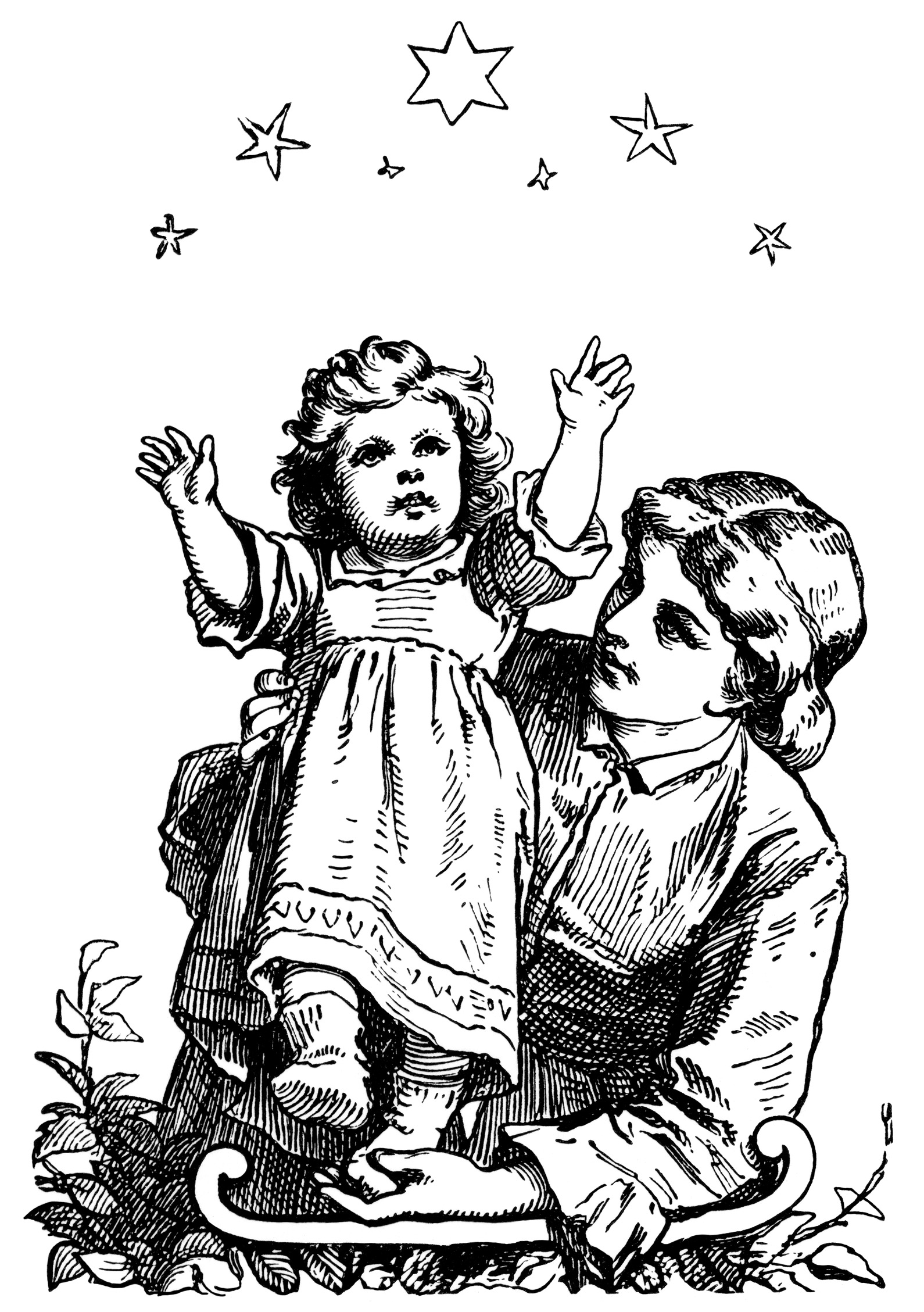 New Year S Night Free Vintage Clip Art