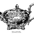 teapot clip art, black and white graphics, vintage tea pot printable, antique teapot illustration, vintage kitchen clipart