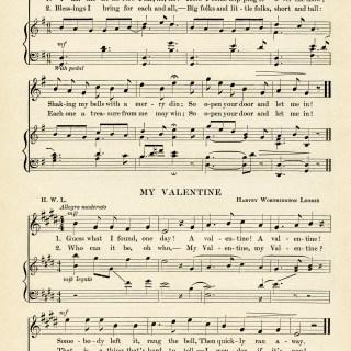 New Year and Valentine Sheet Music