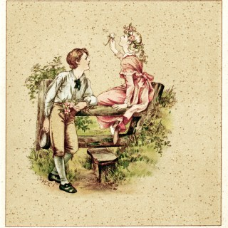 Young Love Vintage Illustration