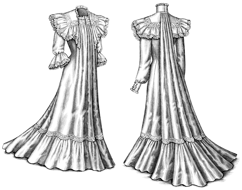 Victorian Ladies' Dresses Clip Art