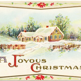 Snowy Country Scene Christmas Card