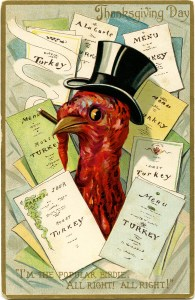 top hat turkey, turkey menu image, antique Thanksgiving postcard, turkey clip art, Victorian thanksgiving clipart, vintage turkey graphic, old fashioned thanksgiving card