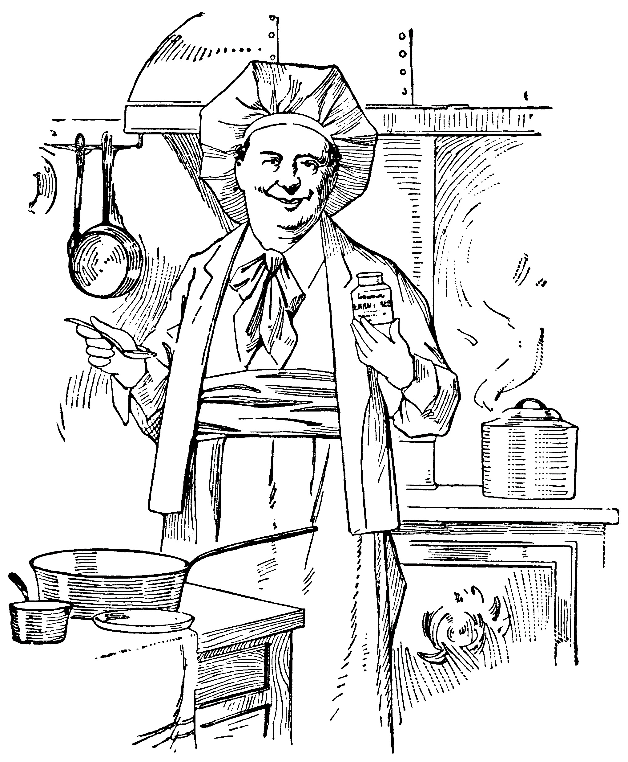 Chef Cooking Vintage Clip Art
