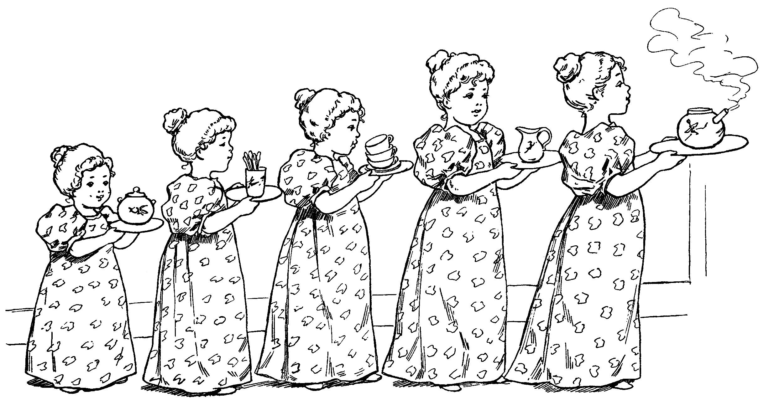A Cup Of Tea Vintage Clip Art