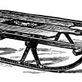 vintage magazine advert, flexible flyer ad, antique sled illustration, vintage sled clip art, black and white graphics, S. L. Allen & Co Philadelphia
