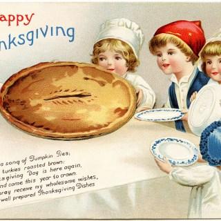 Clapsaddle Kids Thanksgiving Pie