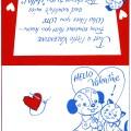 vintage valentine clip art, retro valentine card, printable valentine, puppy valentine, kitten valentine