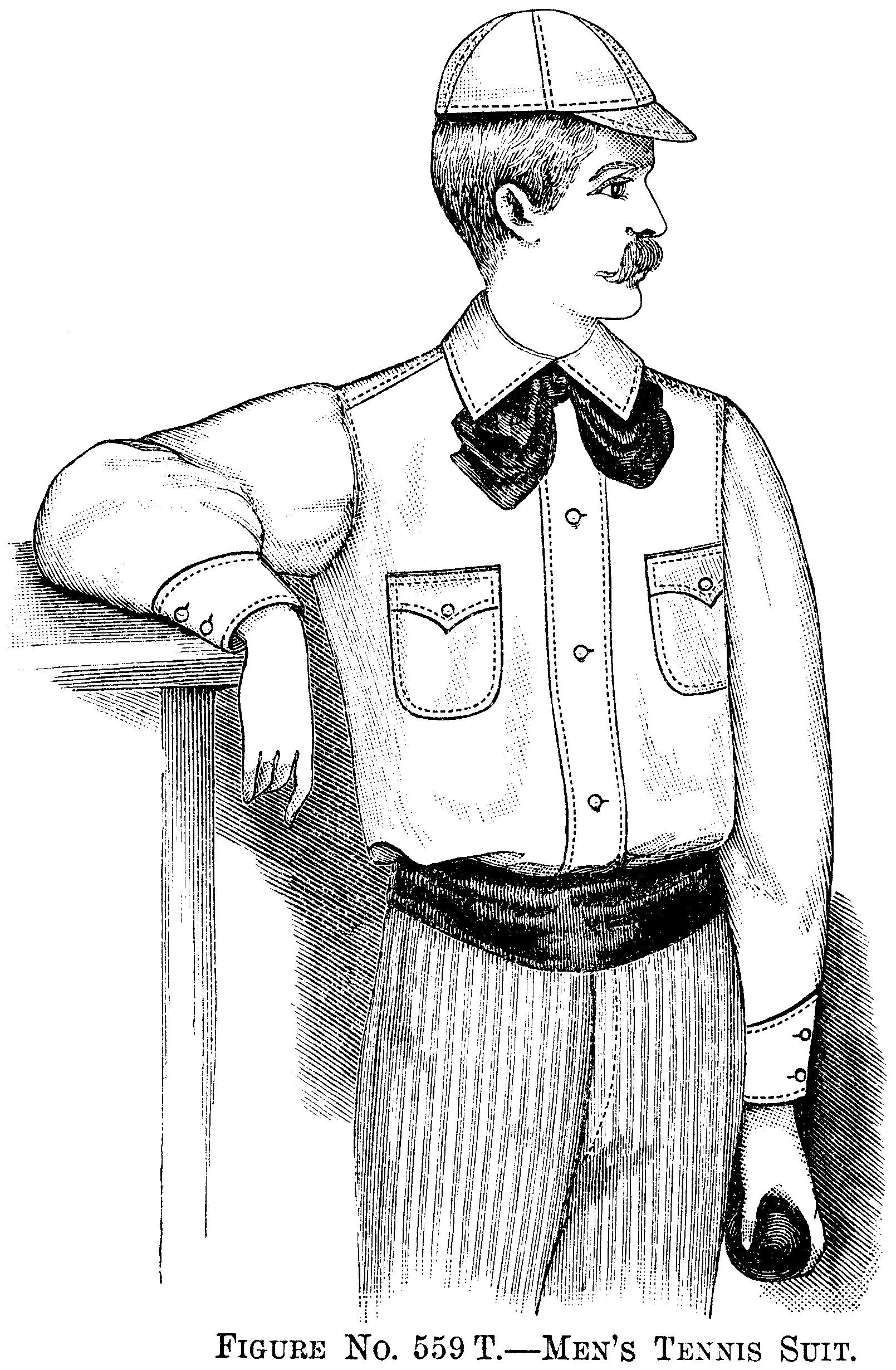 Moustache Man Vintage Clip Art