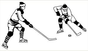 free vintage printable clip art hockey players