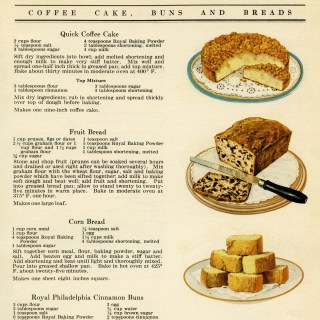 Free Vintage Printable Cookbook Page Cake Bread