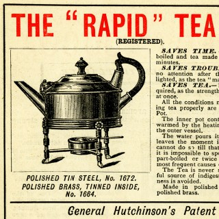 Free Vintage Printable Tea Coffee Pot Advertisement