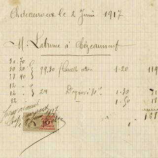 Free Vintage Printable French Handwritten Receipt