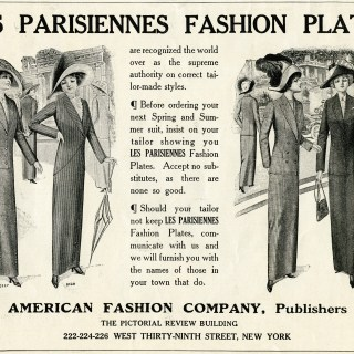 Les Parisiennes Fashion Plates Advertisement