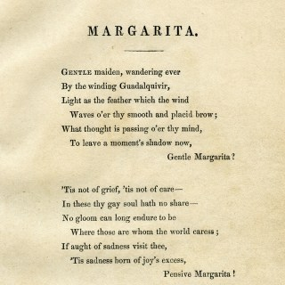 Free Printable Antique Poem Margarita