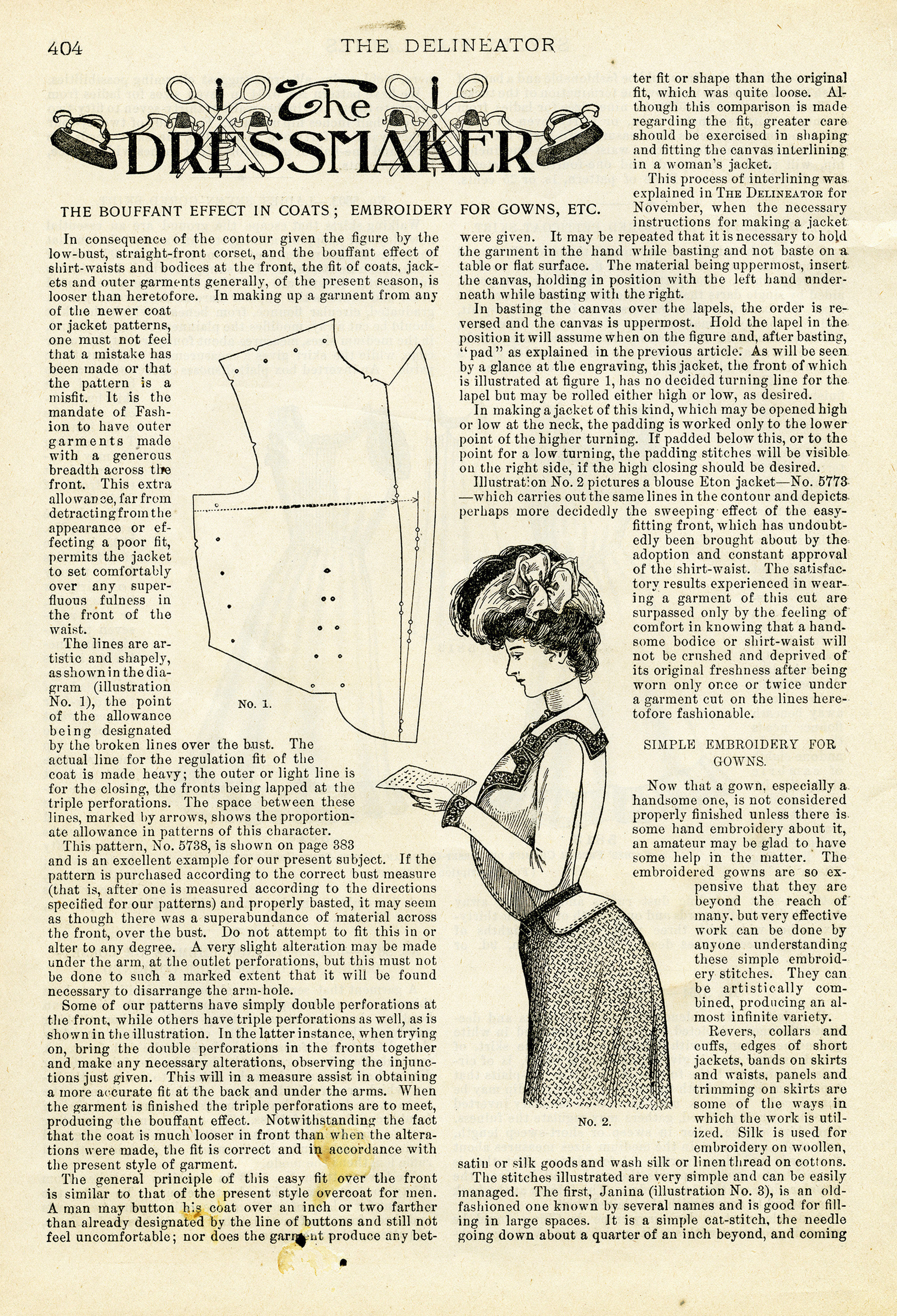 Free Printable Victorian Dressmaker Clip Art