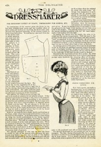 free printable Victorian dressmaker ladies fashion book page