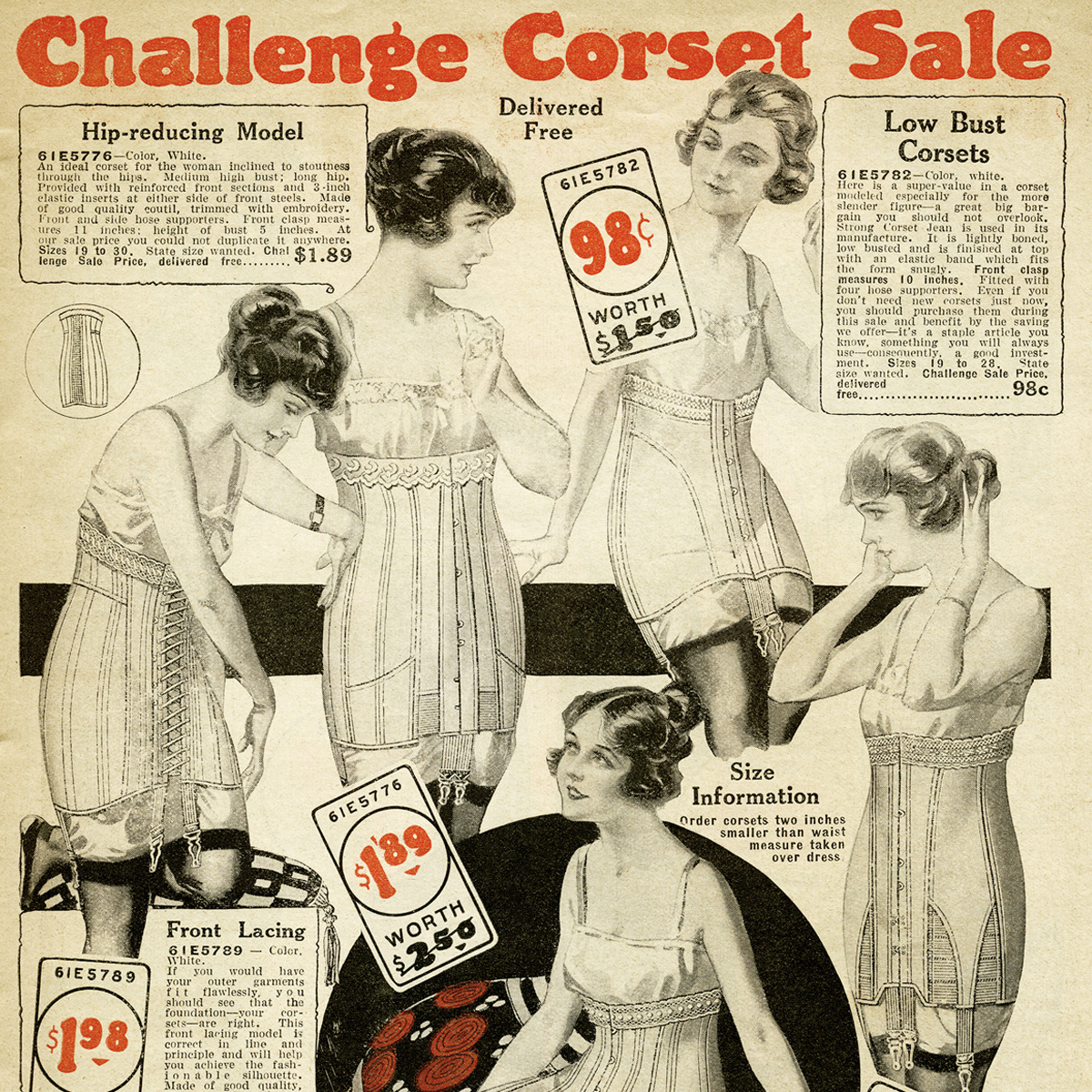 Free Vintage Printable Corsets Catalog Page Old Design