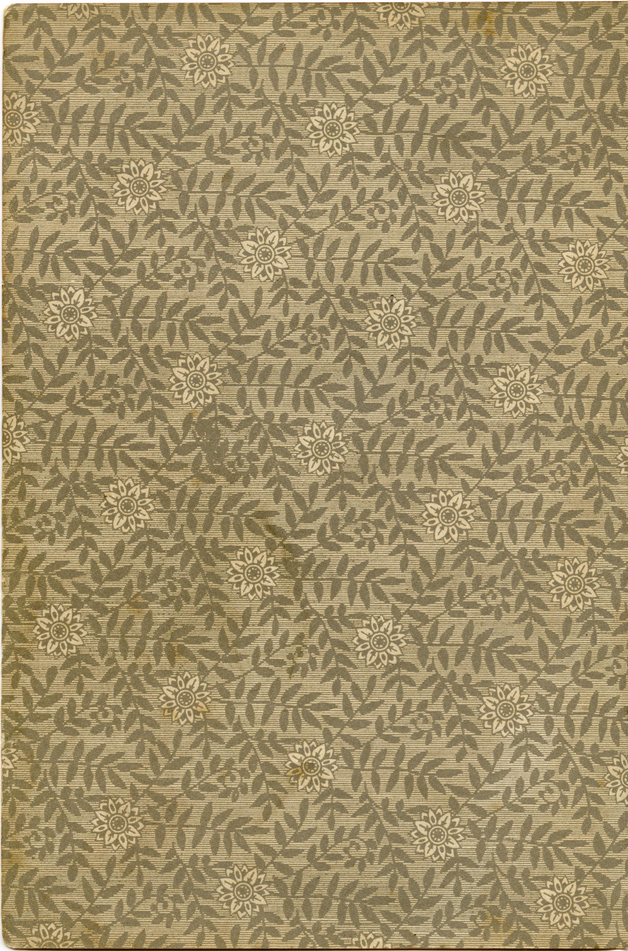 Vintage Floral Design Endpaper Old Design Shop Blog