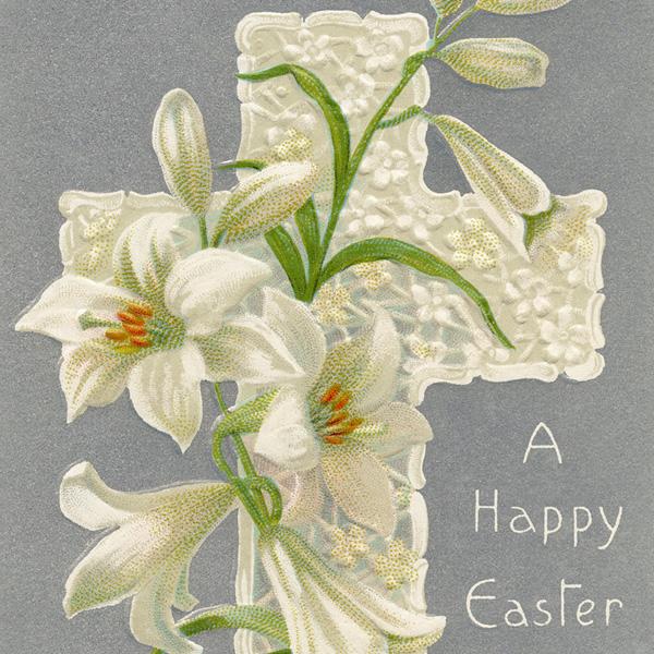 Vintage Easter Lilies And Cross Old Design Shop Blog