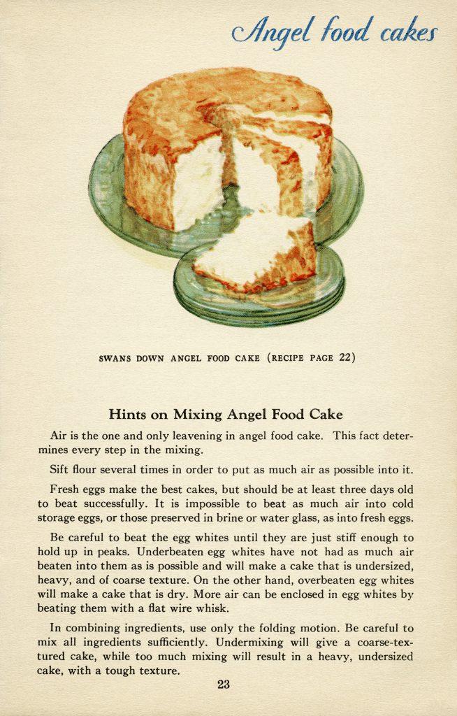 Vintage Angel Food Cake Recipes Old Design Shop Blog