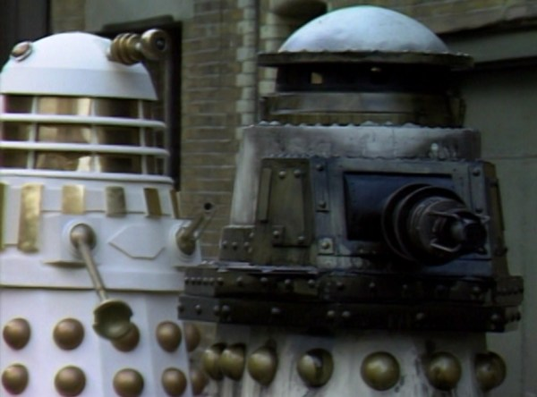 "The Imperial Daleks roll out their super-weapon; ""The Abomination"" - in ""Remembrance Of The Daleks"" - 1988."