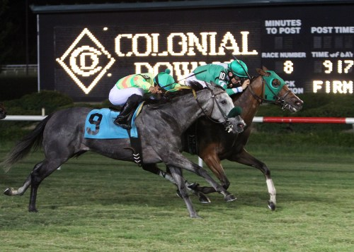 LADY_OLIVIA_The_17th_Running_of_the_Brookmeade_Stakes_07-06-13_CNL_Action_Finish
