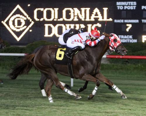 LION_DOWN_BY_ME_The_15th_Running_of_the_Oakley_Stakes_07-06-13_CNL_Action_Finish