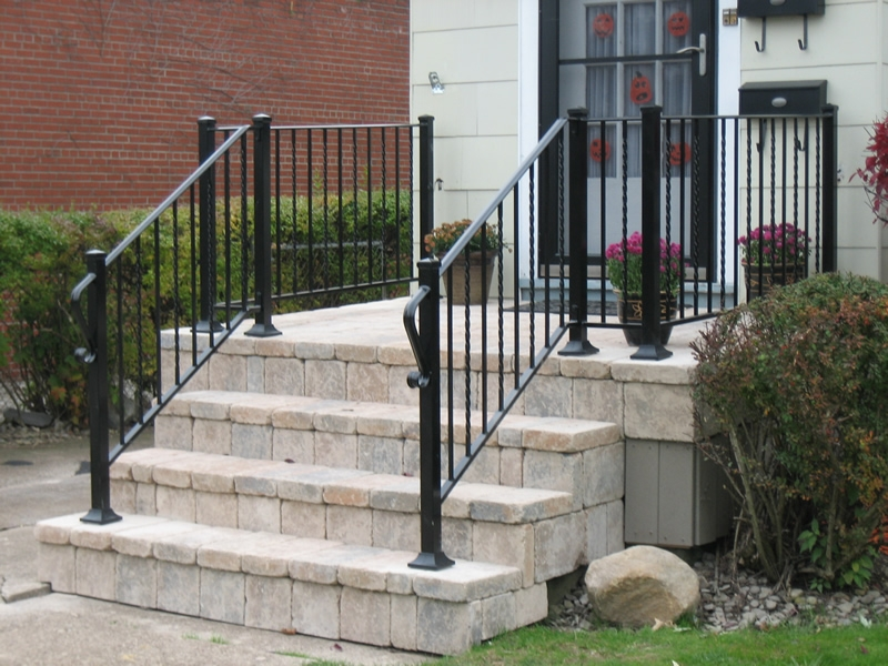 Aluminum Railings Old Dutchman S Wrought Iron Inc | Aluminum Stair Railings Interior | Wrought Iron | Iron Staircase | Cable | Outdoor | Handrail