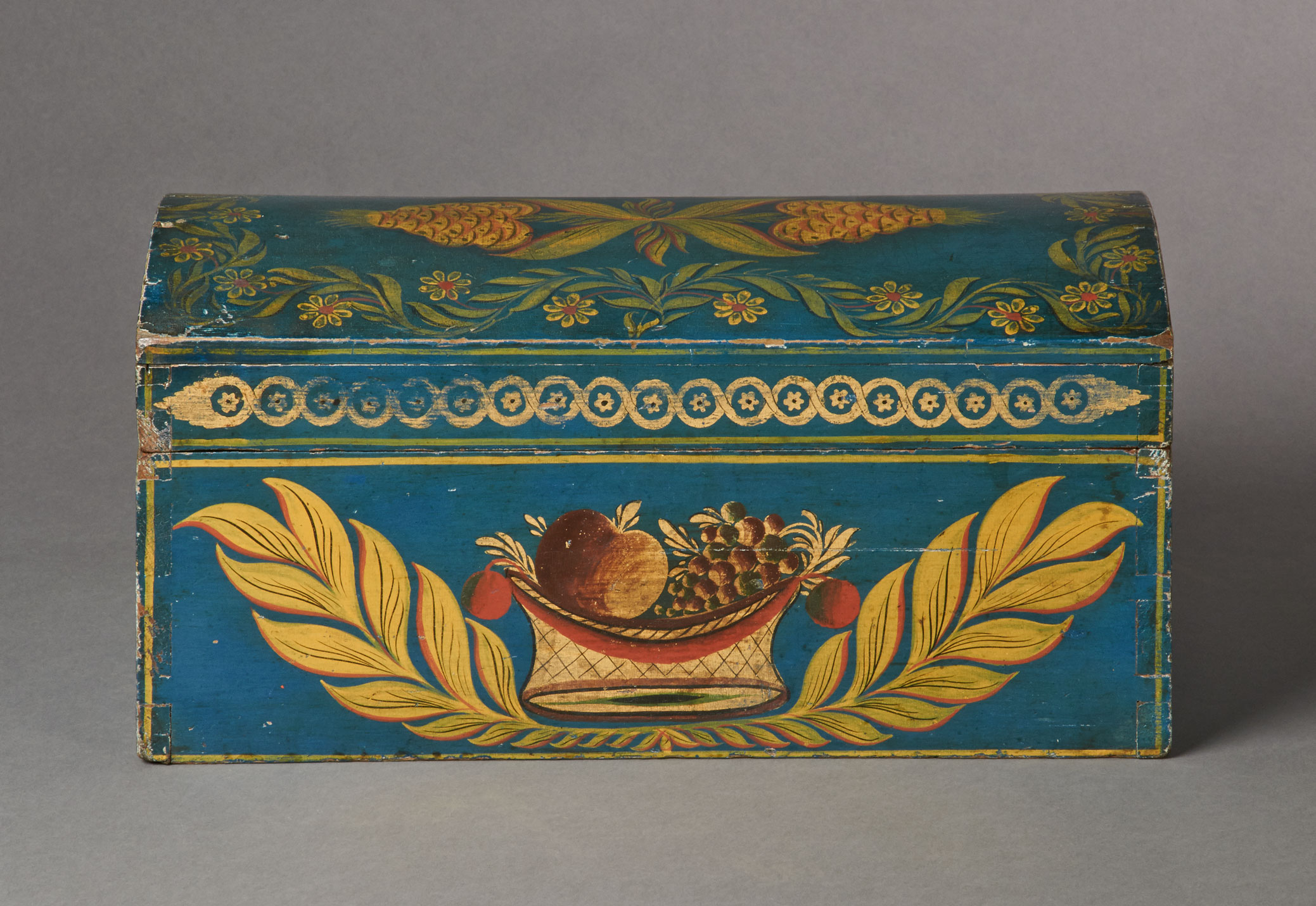 american painted stenciled box rel=