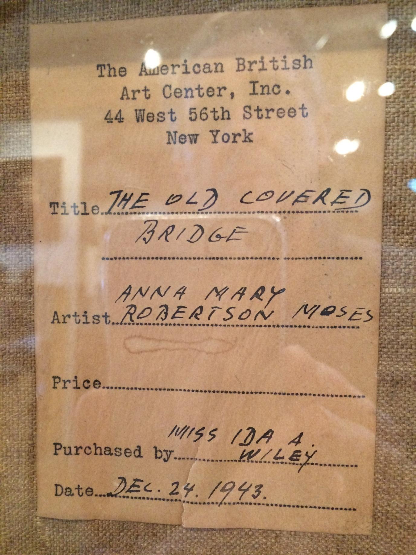 Grandma Moses Label rel=