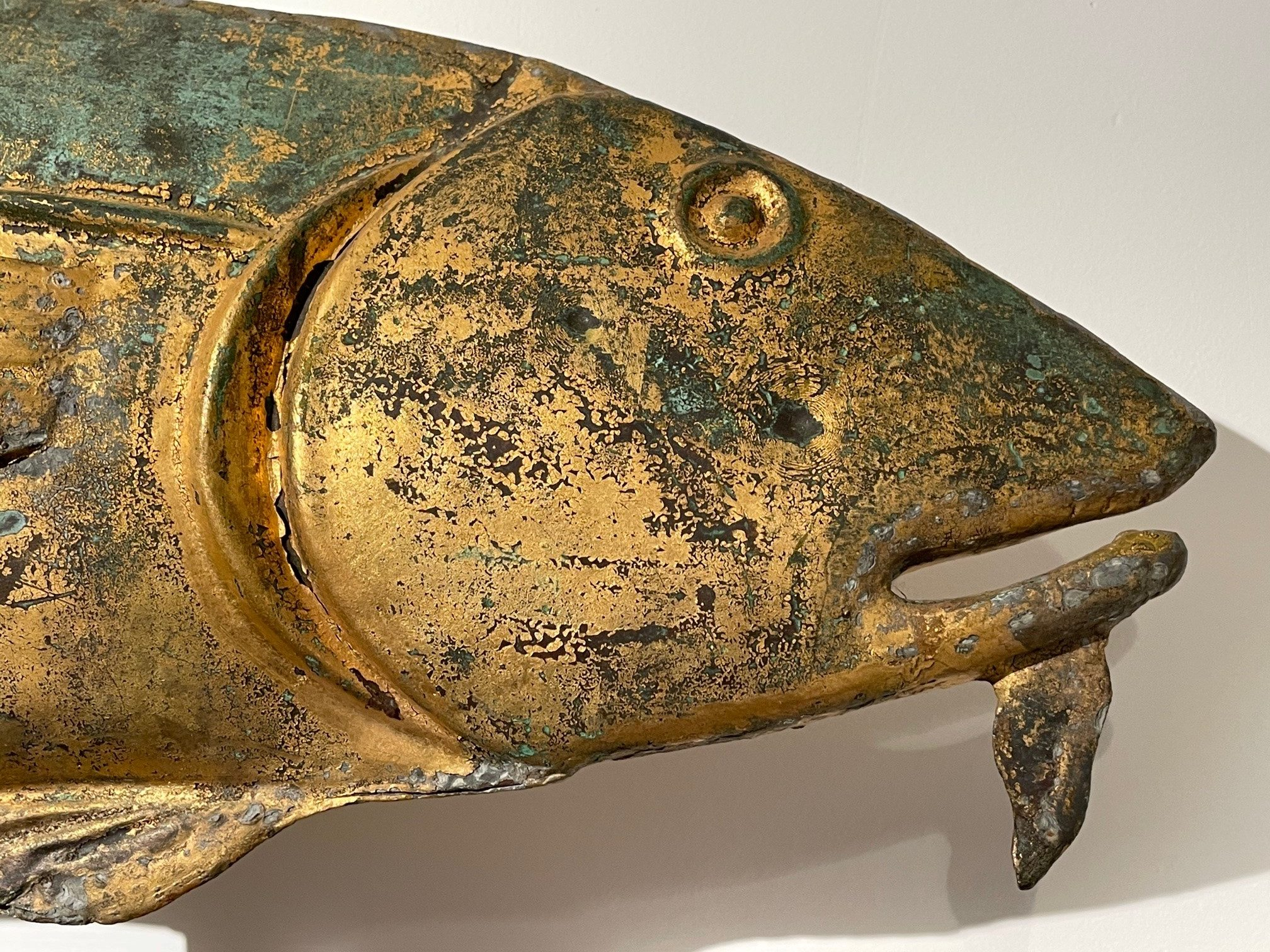 antique gilt fish weathervane eye rel=