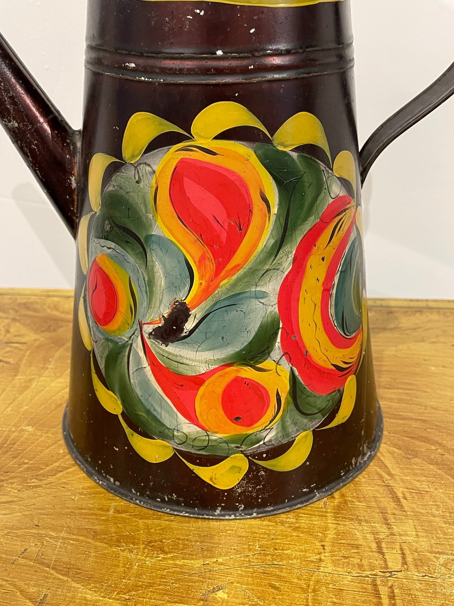 painted toleware coffee pot rel=
