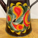 painted toleware coffee pot